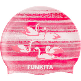 Funkita Silicone Swimming Cap, swan lake
